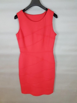 Body Con Red Dress in Panels