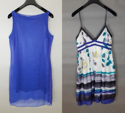 2 Silk Summer Dresses - Gigli Jeans and Mango Preloved
