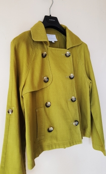 Casual Chartreuse Jacket for Women