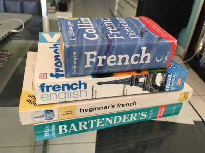 Learn French Books & Bartender's Book