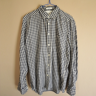 HM BLACK CHECKERED SHIRT FOR MEN