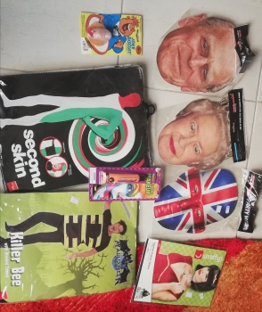 Various UK related  masks and costumes